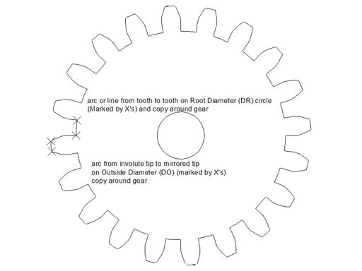 The involute curve drafting a gear in cad and applications 14 radially copy that curve or line around the gear as you did with the gear teeth you now have a completed involute gear ccuart Images