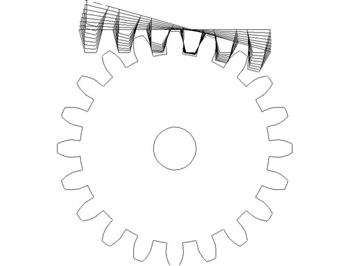 how to draw spur gear in autocad